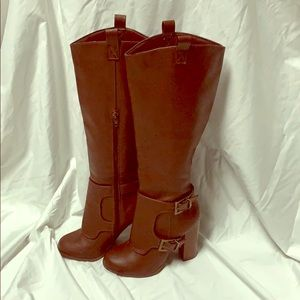 Charlotte Russe Heather tall brown boots - size 6